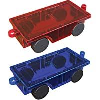 PicassoTiles 2 Piece Car Truck Construction Kit Toy Set Vehicle Educational Magnet Building Tile Magnetic Blocks Puzzle…