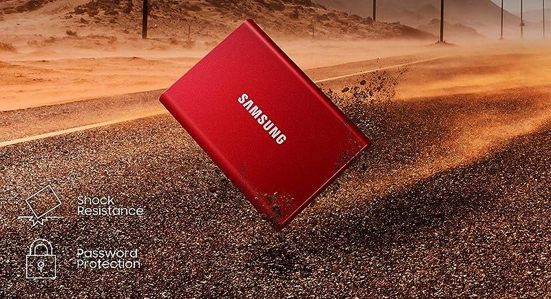 Samsung 三星 T7 便携式固态硬盘 2TB 6.8折$249.99 三色可选 海淘转运到手¥1643