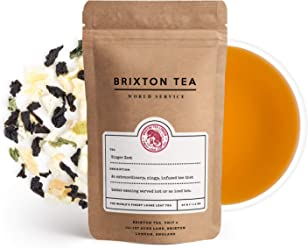 Brixton Tea ® Ginger Zest, Fresh Loose Leaf Tea, 40g, Great to Drink hot or as ice Tea