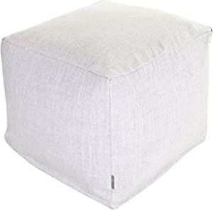 "Majestic Home Goods Magnolia Wales Indoor Bean Bag Ottoman Pouf Cube 17"" L x 17"" W x 17"" H"