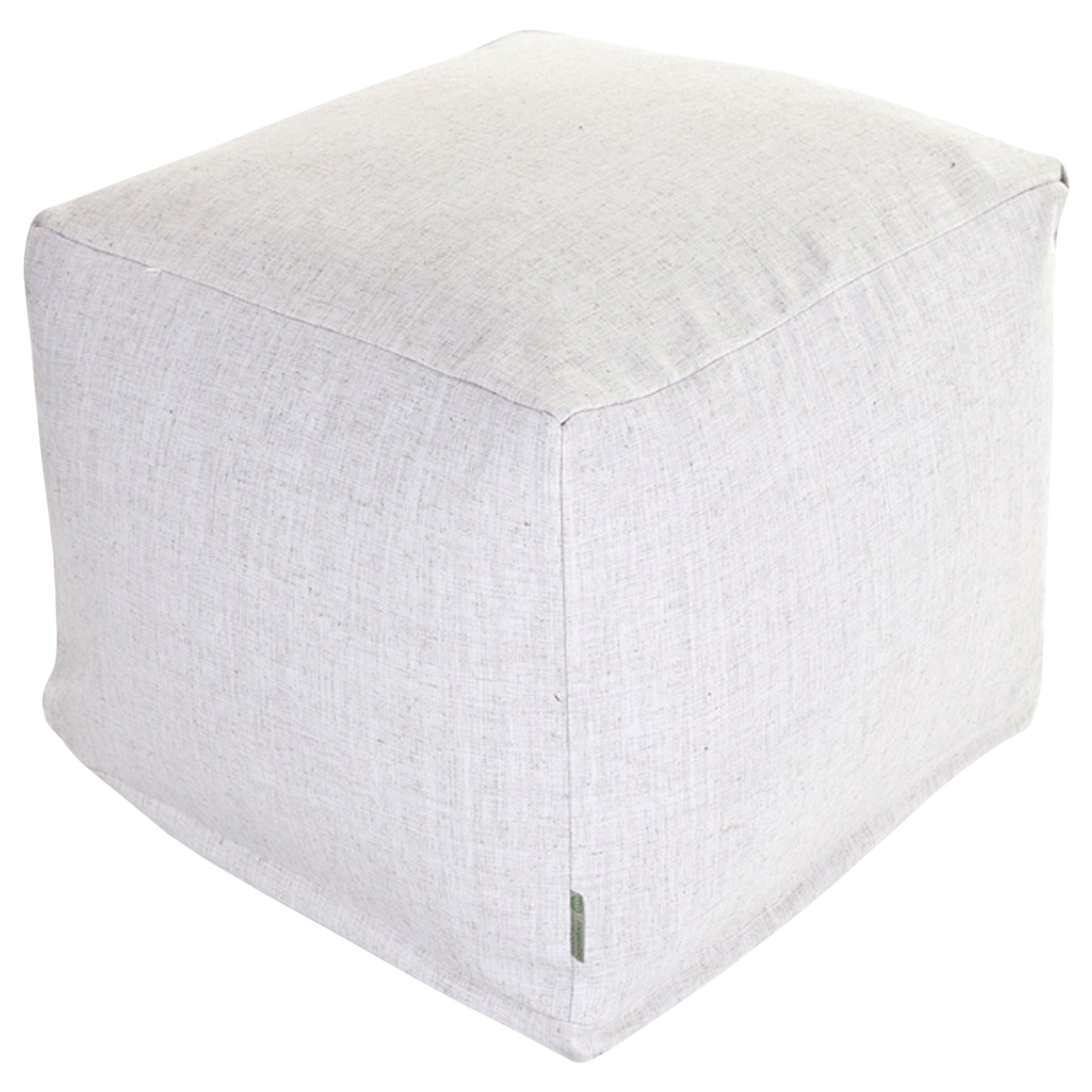Majestic Home Goods Magnolia Wales Indoor Bean Bag Ottoman Pouf Cube 17'' L x 17'' W x 17'' H by Majestic Home Goods