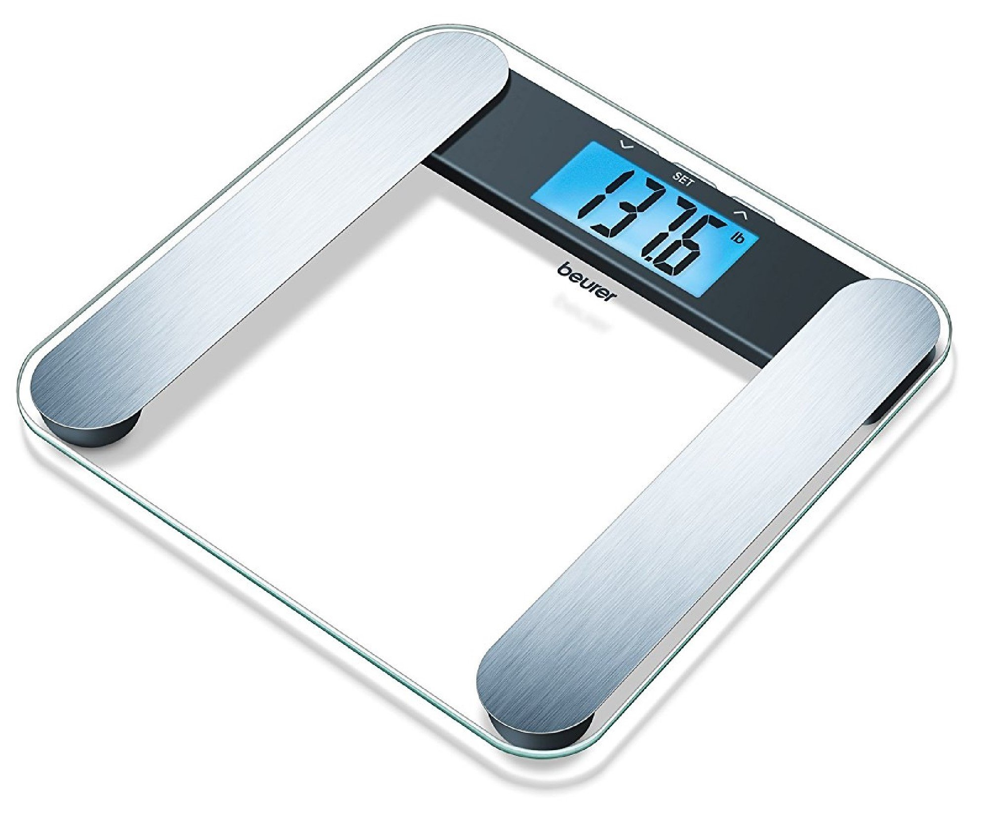 Beurer BF220 Digital Glass Body Analysis Scale, Measures Weight, Fat, Water and Muscle Percentages, Accurate Reading With Nice Modern Design