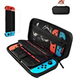 Case for Nintendo Switch,Protective Hard Shell,Switch Travel Carrying Case,Rubberised Handle,Pouch for Nintendo Switch Consol