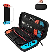 Case for Nintendo Switch,Protective Hard Shell,Switch Travel Carrying Case,Rubberised Handle,Pouch for Nintendo Switch…