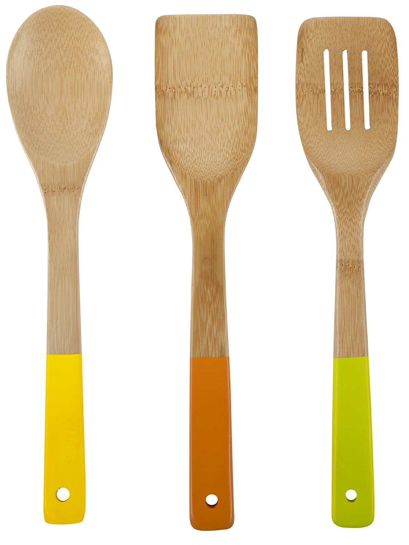 Amazon.com: Core Bamboo Colorful Essentials Bamboo Utensil Set ...