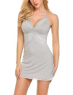 wearella Women s Full Slip Babydoll Lingerie Sexy Lace Nightgown Sleepwear  Nighty a377fbbd1