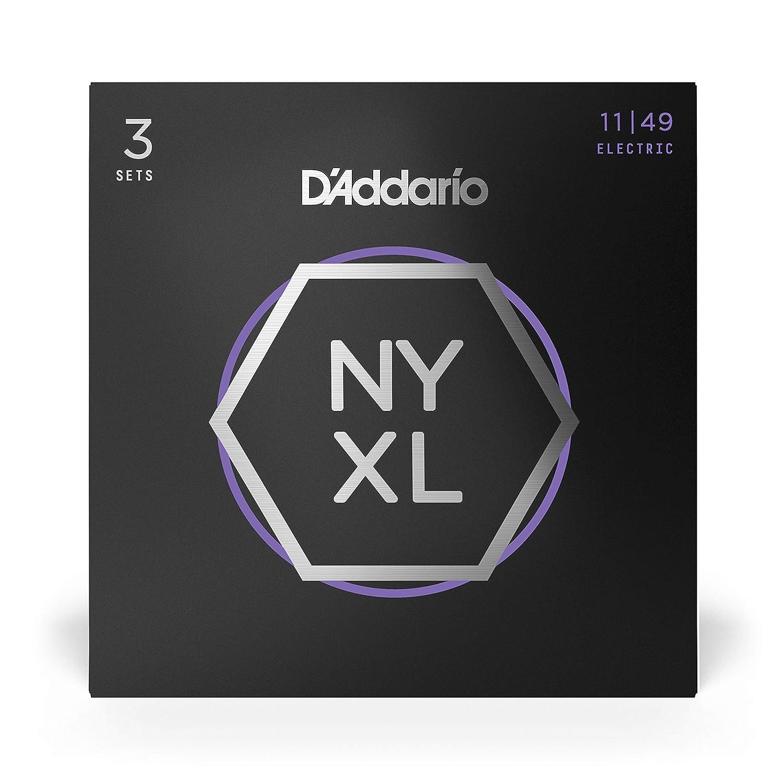 Pack con 3 Juegos de cuerdas guitarra el/éctrica DAddario NYXL1149 011-014- 018-028 - 038-049