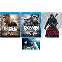 Planet Of The Apes Trilogy Rise / Dawn / War For The Planet Of The Apes 3 Disc Blu Ray Set Includes Glossy Print Movie…