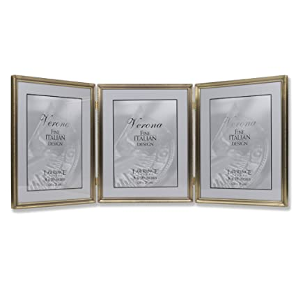 2b513c03b37a Image Unavailable. Image not available for. Color  Lawrence Frames 11480T  Antique Gold Bead Hinged Triple Picture Frame
