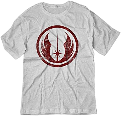 3a4ce465 Amazon.com: BSW Men's Star Wars Jedi Order Vintage Style Logo Shirt ...