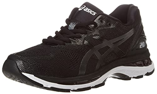 Asics Men's Gel-Nimbus 20 Training Shoes, Multicolor (Black/White/Carbon