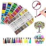 Rotuladores de doble punta, 100 colores vivos, 0,4 puntas de punta fina
