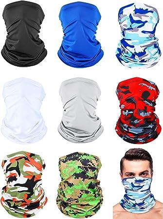 Bandana a bandana con paillettes riutilizzabile 3PC nero 3 pezzi protezione per esterni copertura del viso regolabile lavabile
