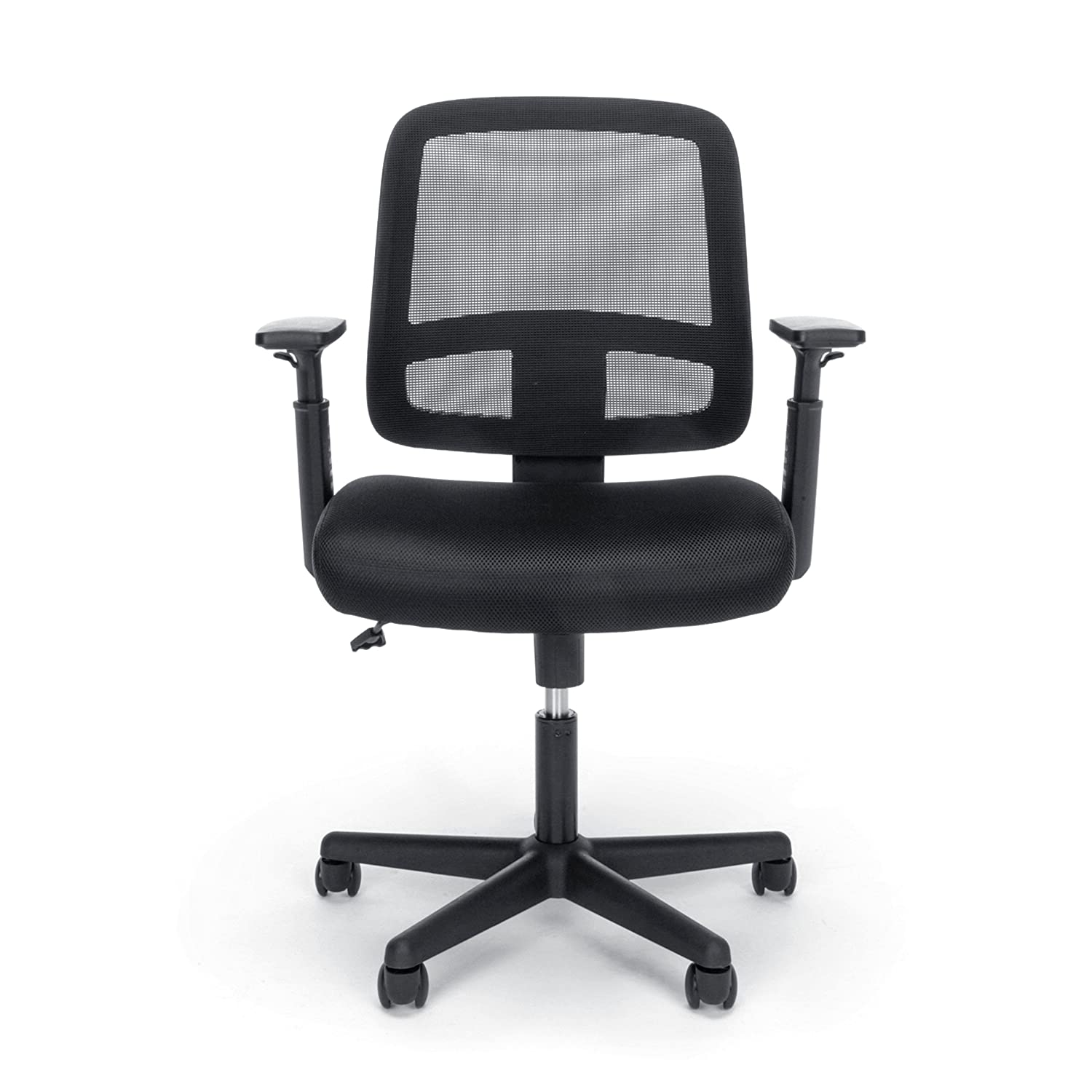 Essentials Mesh Task Chair – Ergonomic Computer Office Chair with Adjustable Arms, Black E3035-BLK