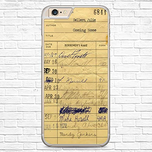 amazon com personalized library check out card book lover phone