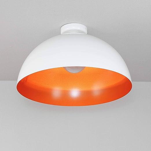 XXL Loft - Lámpara de techo en color blanco de oro ø50 cm ...