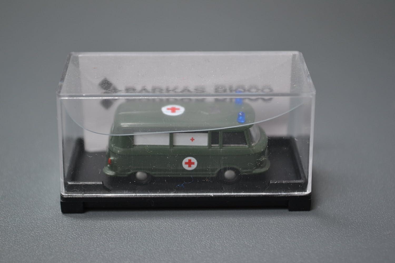 Ixo Barkas B1000 Ambulance Milit/är Arme NVA DDR Gr/ün 1964 IST079 1//43 Modell Auto mit individiuellem Wunschkennzeichen