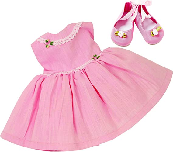 outlet online sale uk running shoes FRILLY LILY PINK PARTY DRESS AND SHOES SET FOR LUVABELLA DOLL FROM [DOLL  NOT INCLUDED]