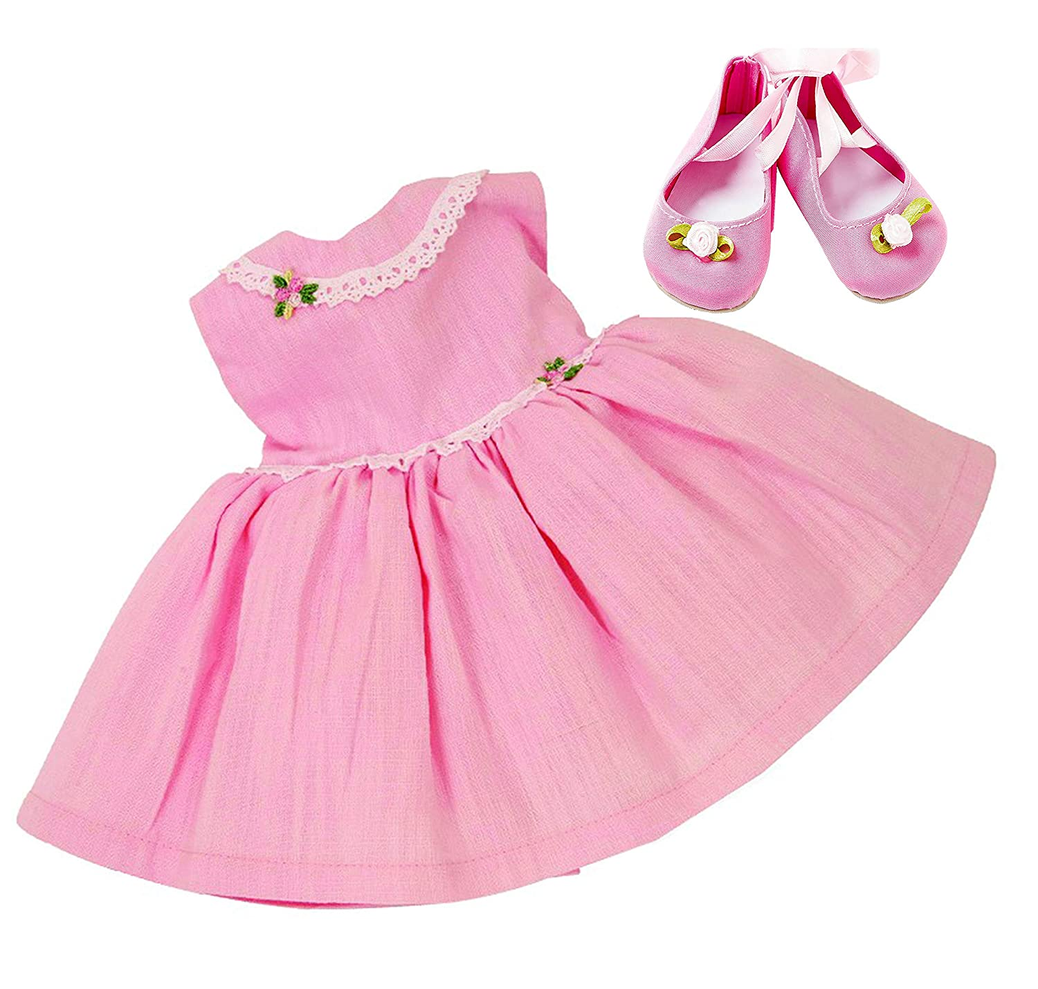 1e138083377a Frilly Lily PINK PARTY DRESS AND SHOES SET FOR LUVABELLA DOLL FROM [DOLL  NOT INCLUDED]: Amazon.co.uk: Toys & Games