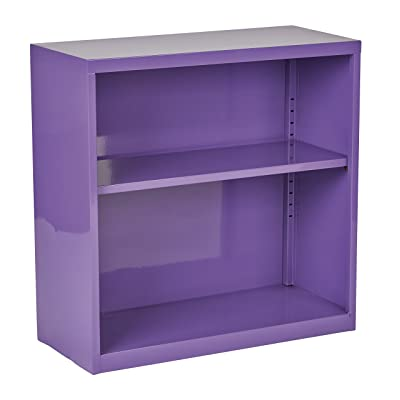 OSP Designs Metal Bookcase, Purple: Kitchen & Dining