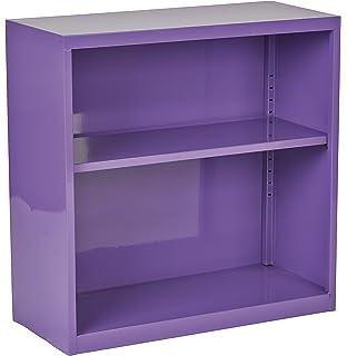 Amazon.com: Office Star 3-Drawer Metal File Cabinet, Purple Finish ...