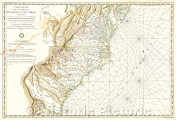 Amazon.com: Historic Map - Nautical Map of Georgia, North ...