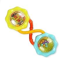 Bright Starts 撥浪鼓和搖晃杠鈴玩具,适合 3 個月以上兒童