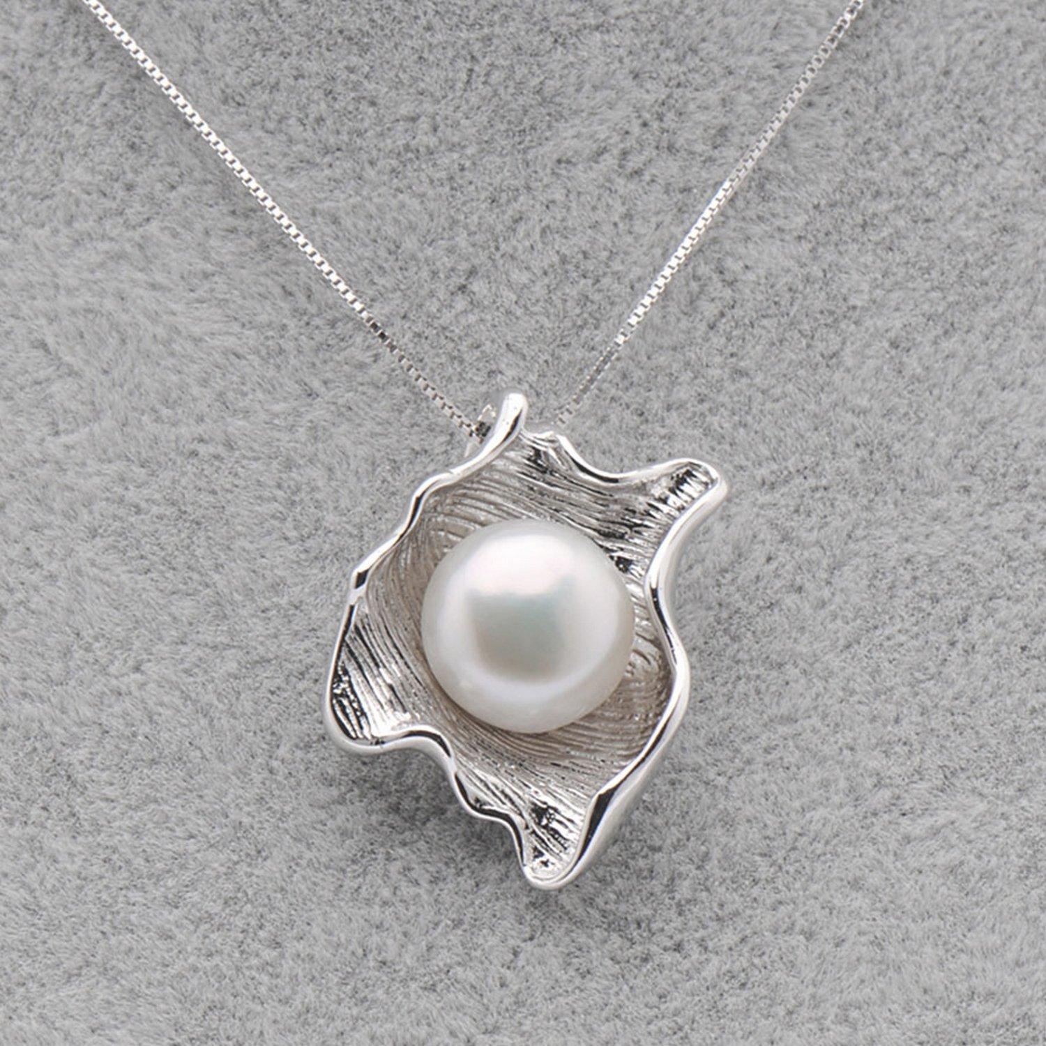 CS-DB Pendants Jewelry White Pearl Silver Necklaces