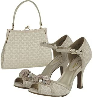a1eaa3a063ebf Ruby Shoo Women's Clarissa Peeptoe Occasion Sandals & Matching Toulouse Bag