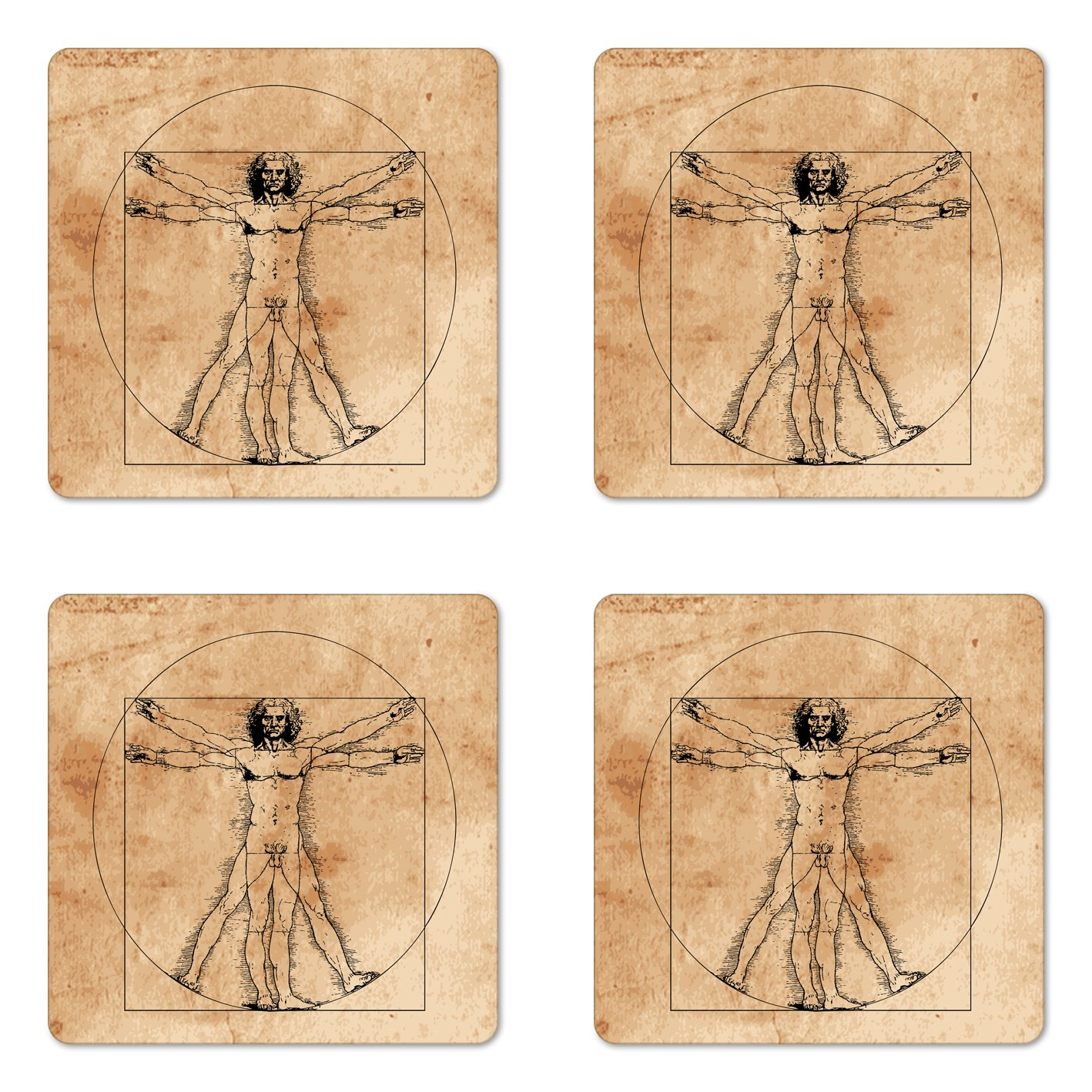 Amazon Ambesonne Human Anatomy Coaster Set Of Four Medieval