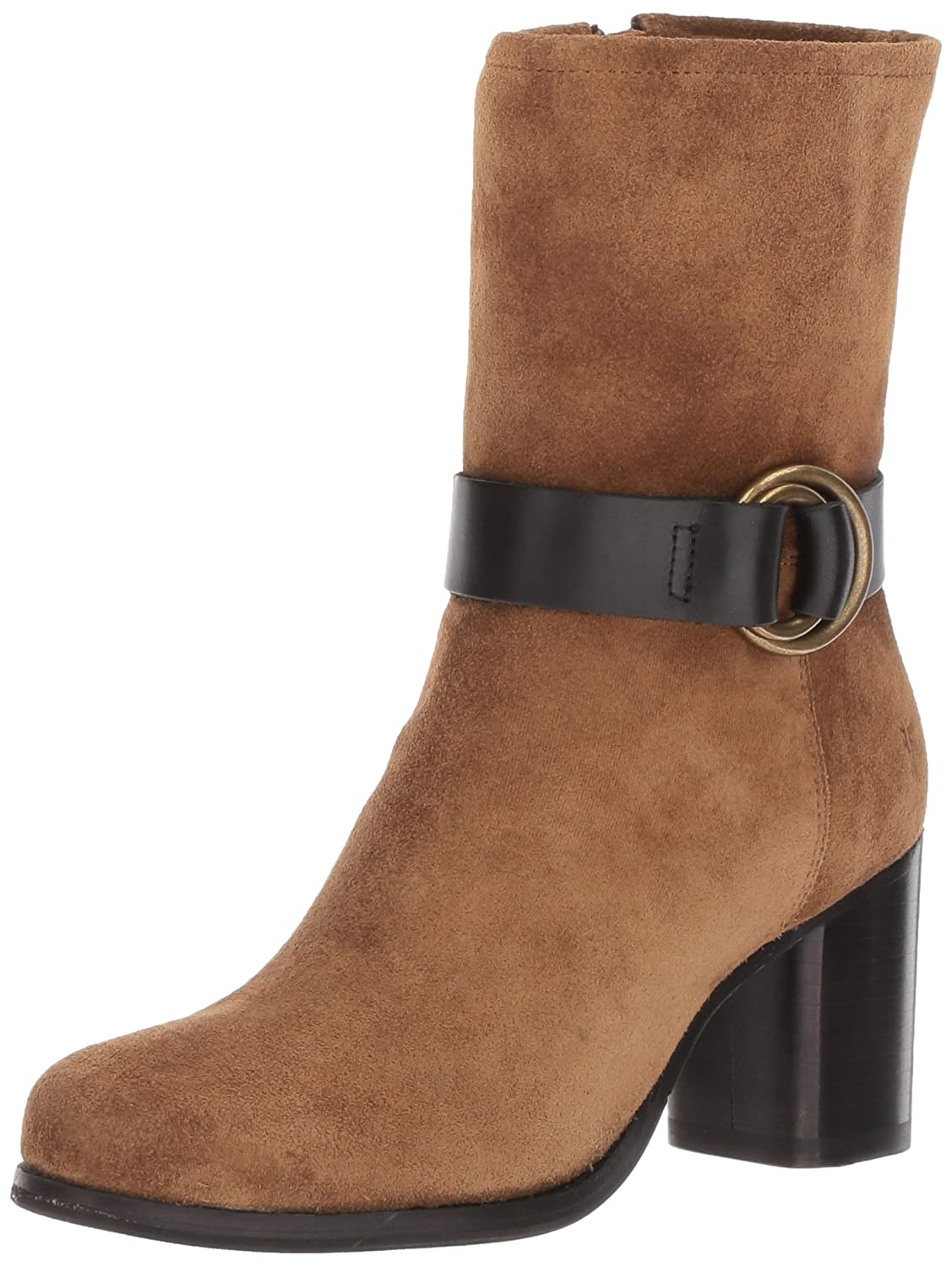 FRYE Women's Addie Harness Mid Boot B01N9FMJ2P 6.5 B(M) US|Chestnut Suede