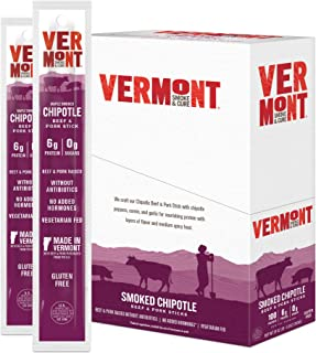 product image for Vermont Smoke & Cure Meat Sticks - Antibiotic Free Beef & Pork Sticks - Gluten-Free Snack - Paleo and Keto Friendly - Nitrate Free - Chipotle - 1oz Stick - 24 Count