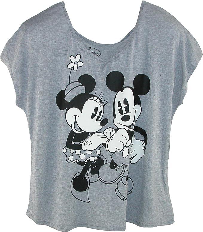 Disney - Camiseta de Mickey y Minnie Mouse tamaño grande para mujer