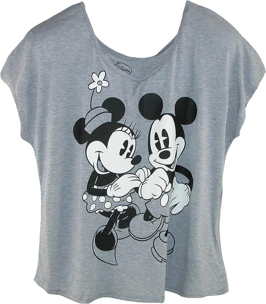 Amazon.com: Disney Women's Plus Size Mickey and Minnie Mouse Tee, XL, Grey:  Clothing