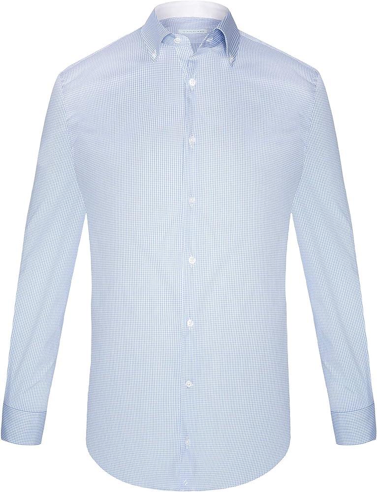 HLND highlandstore.es - Camisa para Hombre Cuadro Vichy Azul Claro (XL): Amazon.es: Ropa y accesorios