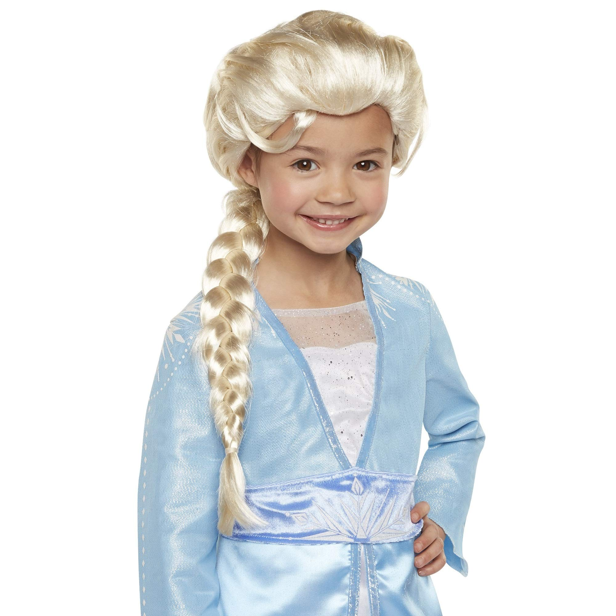Disney Frozen 2 Elsa Wig, 20'' Long with Iconic Braid for Girls Costume, Dress Up or Halloween - For Ages 3+ by Frozen 2