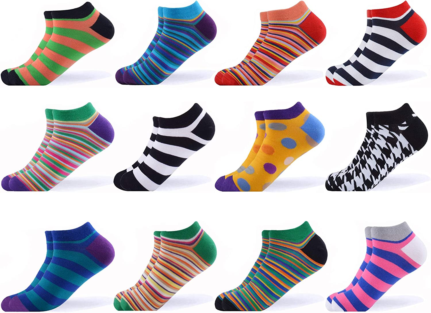 WeciBor Mens Dress Cool Colorful Novelty Funny Casual Combed Cotton Socks Pack