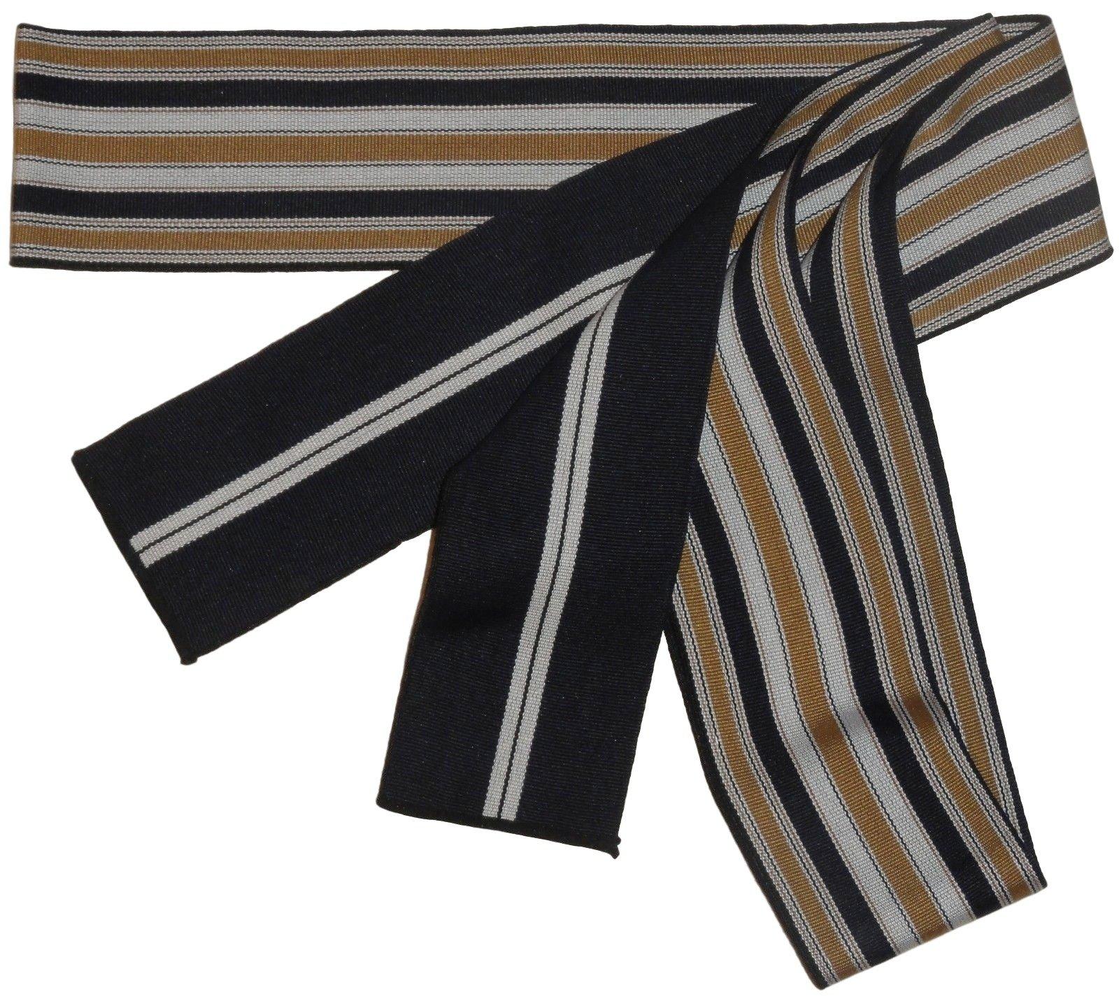 Mens Cotton Navy and Gold Japanese Obi for Wear with Yukata Summer Kimono