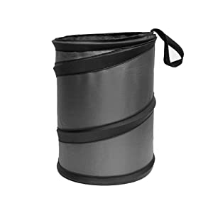 FH Group FH1121GRAY Gray Car Garbage Trash Can (Collapsible and Compact Size Large)