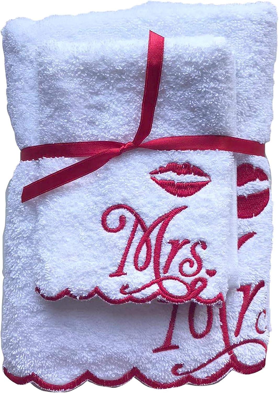 /& Mrs Schwarz 1x Handtuch 50x100 cm 1x G/ästetuch 30x50 cm MR Wei/ß Handtuch Set Niceprice Mr