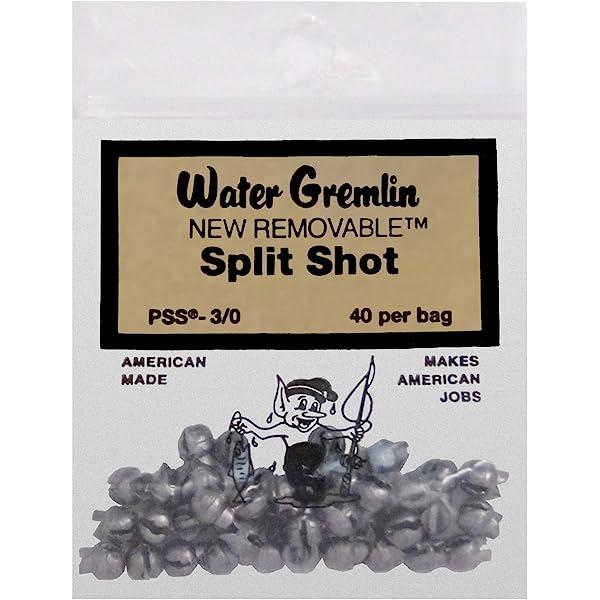 30 WATER GREMLIN REMOVABLE SPLIT SHOT PSS-7 QTY