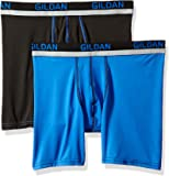 Gildan Mens Stretch Polyester Athletic Boxer Briefs, 2-Pack Boxer Briefs - Multi