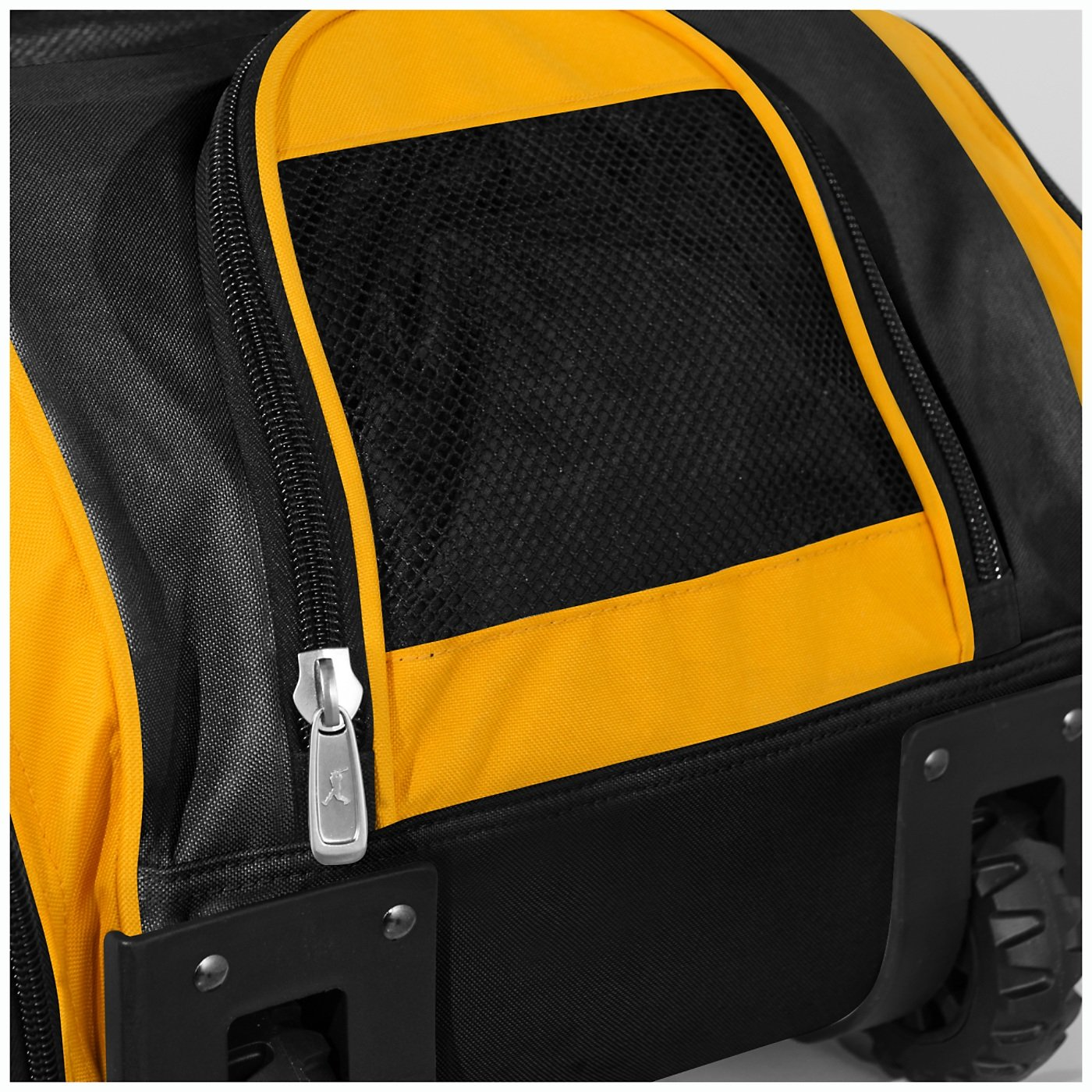 Boombah Beast Baseball/Softball Bat Bag - 40'' x 14'' x 13'' - Black/Gold - Holds 8 Bats, Glove & Shoe Compartments by Boombah (Image #4)