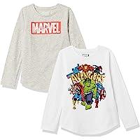 Amazon Essentials Disney Star Wars Marvel Princess-Camiseta de Manga Larga Niñas
