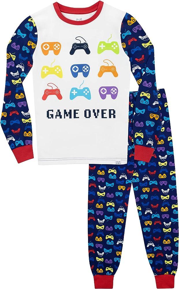 Harry Bear Pijamas para ni/ñas Slogan Ajuste Ce/ñido