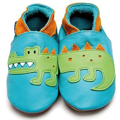 wholesale dealer 9c7cb 876b2 Inch Blue Baby Lederpuschen Krokodil Türkis/Orange: Amazon ...