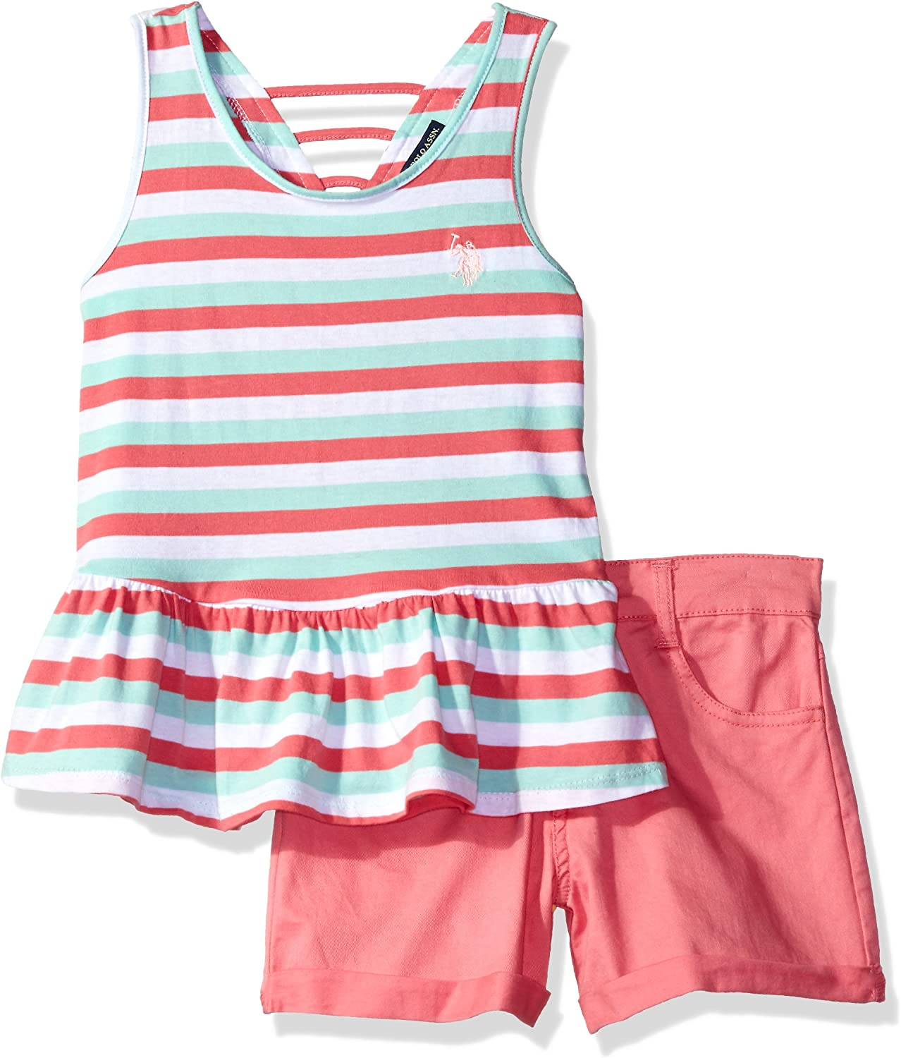 Baby Girls Twill Vest Childrens Apparel U.S US Polo Assn Pick SZ//Color.