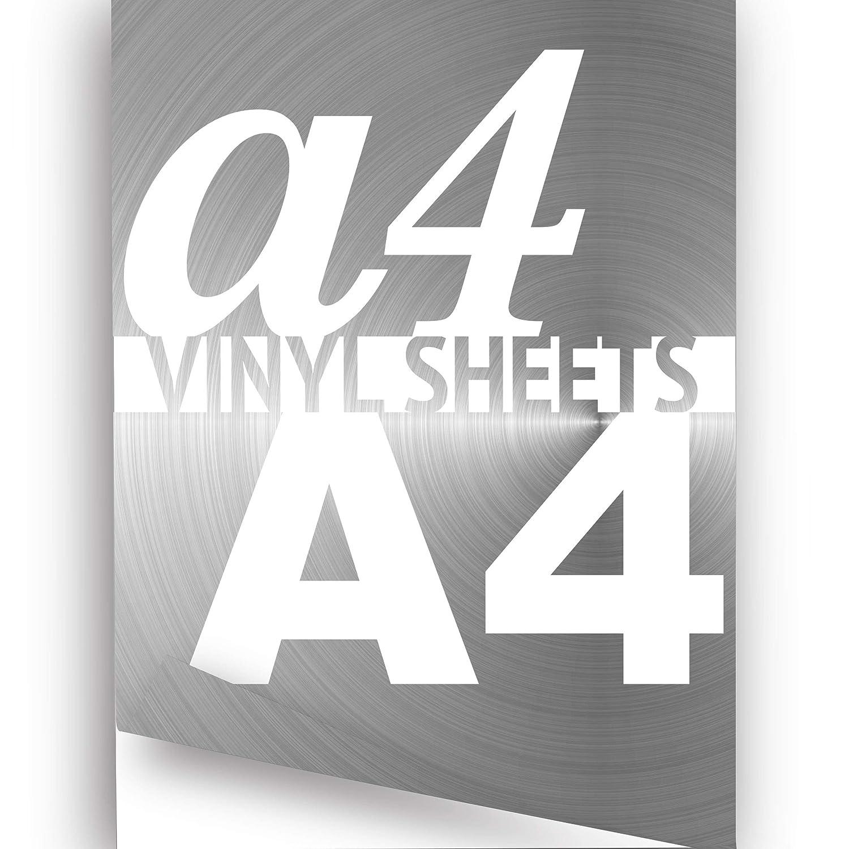 JasonCarlMorgan Silver Chrome Vinyl Sheet Wrap A4 297x210mm 2x Self-adhesive Vinyl Sheets
