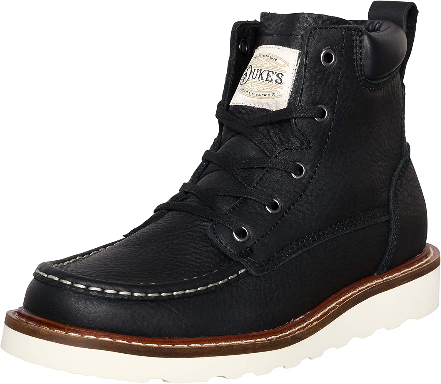 Amazon.com: Duke's Mens Boots - Portland Leather Boot with Premium Cushion  Insole: Shoes