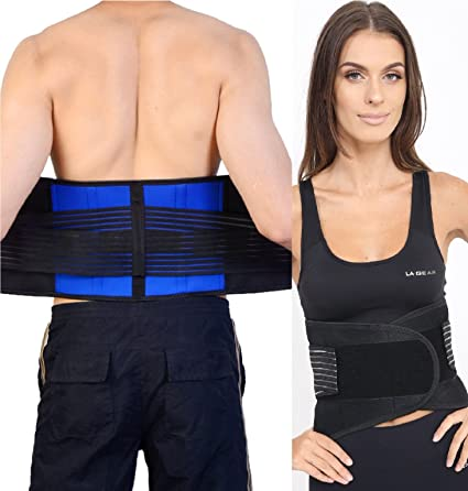 8c330ff8179 Adjustable Neoprene Double Pull Lumbar Support Lower Back Belt Brace Pain  Relief (3X-Large